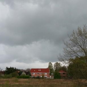 Kurz, bevor es bei stürmischen Böen begann zu schütten.
