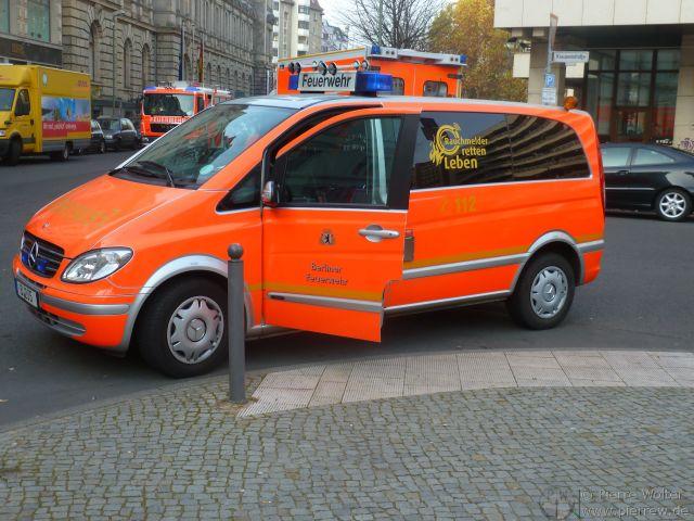 Feueralarm E-Werk - Einsatzfahrzeuge