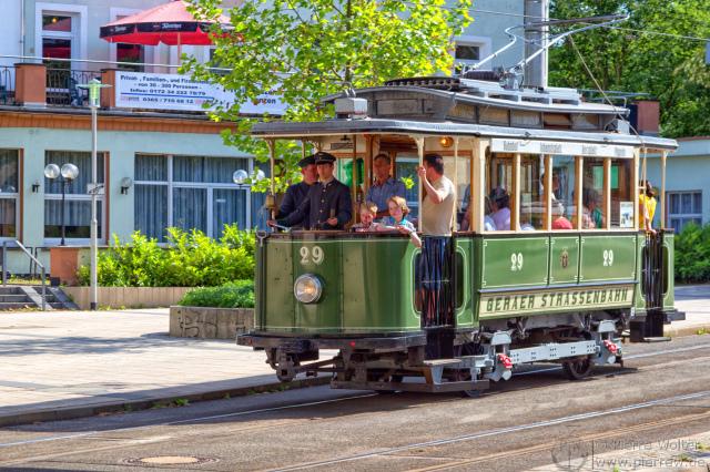 Traditions-Tram TW 29 der Geraer Verkehrsbetriebe