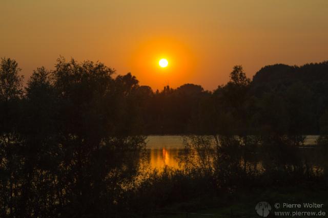 Sonnenuntergang 12.09.2014 in Haaften