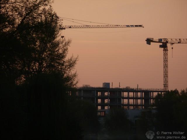Baustellen-Sonnenuntergang