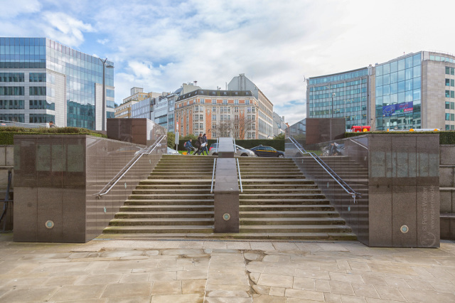 Stufen zum Schuman von ''Le Berlaymont''