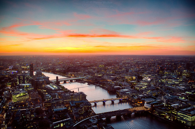 The View From The Shard - Sunset