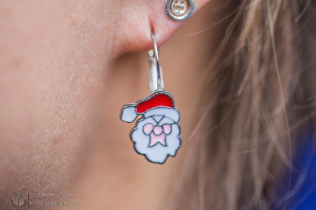 Weihnachtsmann-Ohrring