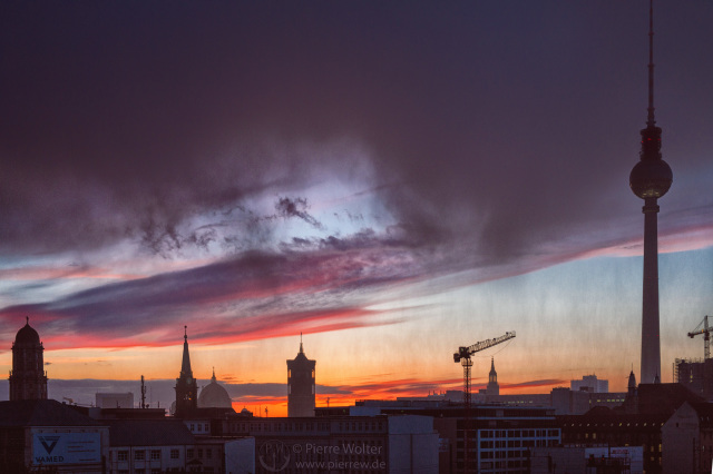 Sonnenuntergang im Regen // Aprilwetter