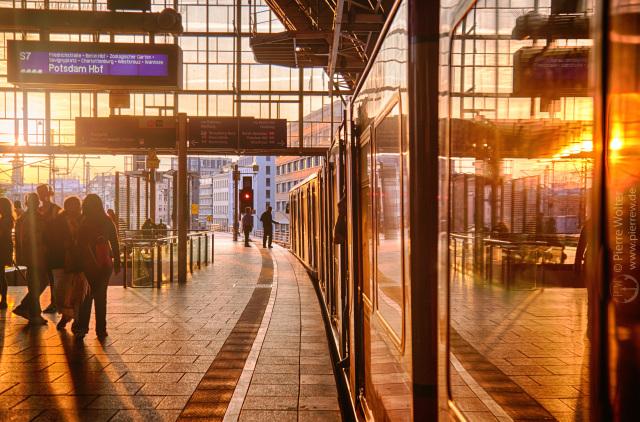 Sonnenuntergang, Bhf. Alexanderplatz