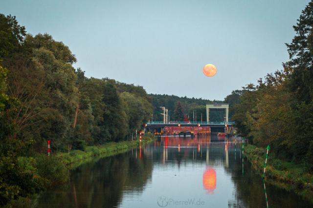 Mondaufgang in Schmöckwitz, 5.9.2017