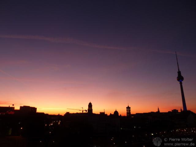 Sonnenuntergang, 15.10.2011