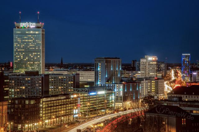 Blue Hour Traffic in Berlin