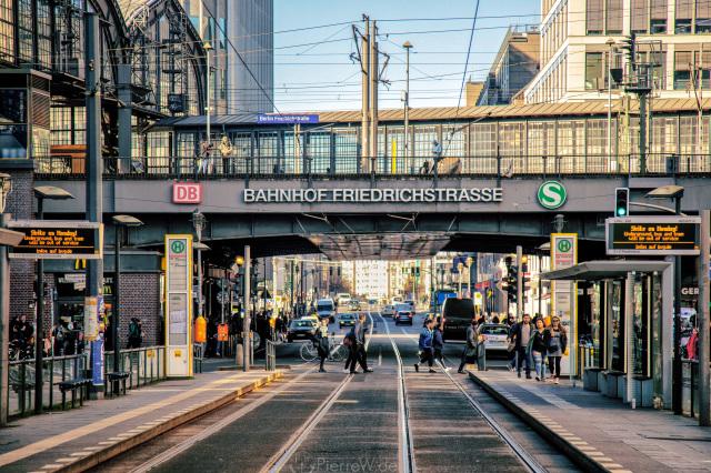 BVG-Streik-Tag 01.04.2019, Friedrichstraße