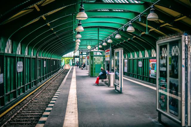 Grüner U-Bahnhof Eberswalder Str.