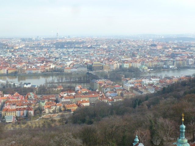 118 View from the Petřínská rozhledna (Petřín Lookout Tower)