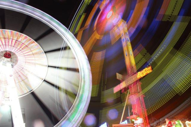 Riesenrad, Boostermaxxx langzeitbelichtet