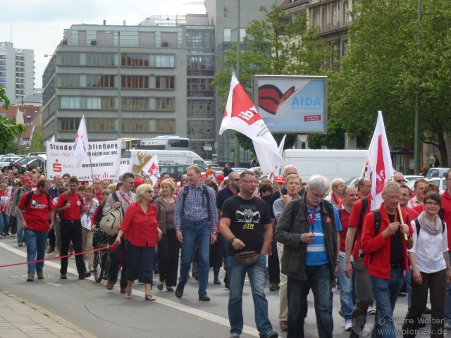 Demo gegen Sparkassen IT-Standortschließungen