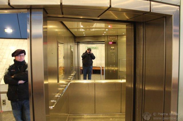 Aufzug im Rheinturm