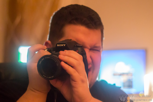 Pascal mit seiner Sony Alpha DSLR