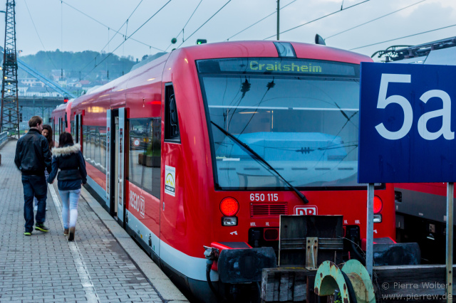 Wagen 650 115 als Regionalexpress nach Crailsheim