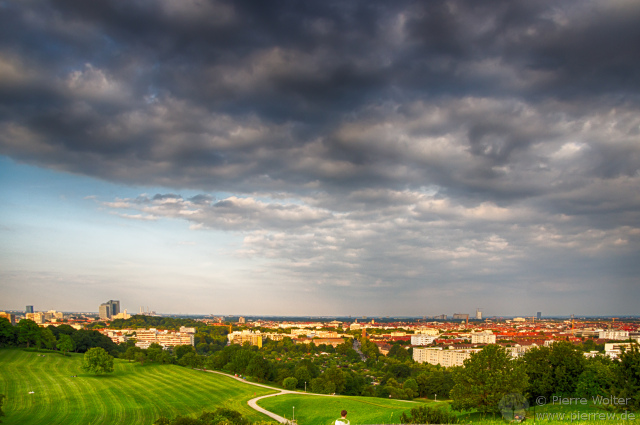 Sicht vom Olympiapark in München
