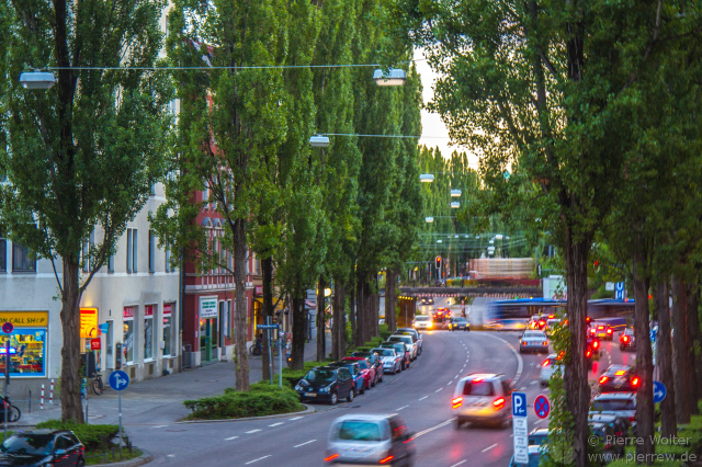 Traffic at the Lindwurmstr.