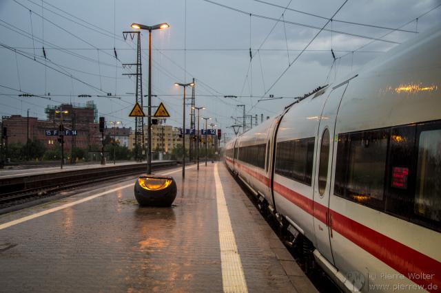 Gewitter in Nürnberg / Mit Zug gestrandet
