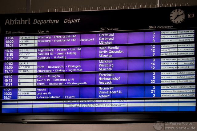 Mit ICE gestrandet in Nürnberg