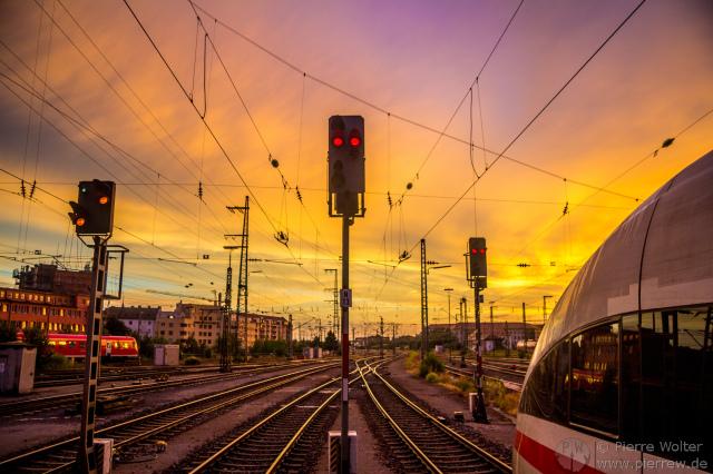 Sonnenuntergang nach Gewitter in Nürnberg