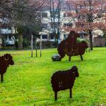 Kunst in Hannover: Schafe aus Metall