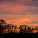 Sonnenuntergang / Rathenow / 09.03.2014