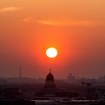 Sonnenuntergang am 13.03.2014 / Berlin