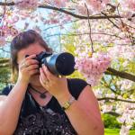 Jessica fotografiert Herz-Kirschblüten :)