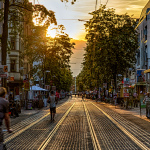 Sonnenuntergang Limmerstr. // Hannover