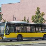 Verunfallter BVG-Bus 1607