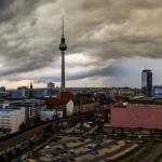 Dramatischer Gewitter-Himmel (Panorama)