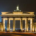 Brandenburger Tor mit Traffic Trails