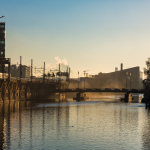 Spree von der Jannowitzbrücke am Morgen