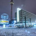 Schnee am Alexanderplatz