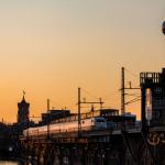 Sonnenuntergang 09.04.2015 - Jannowitzbrücke
