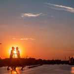 Sonnenuntergang 21.08.2015 // Elsenbrücke