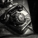 Altes Drehscheibentelefon @ Monumentenhalle