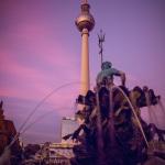 Neptunbrunnen // Fernsehturm // Sonnenuntergang