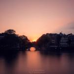 Sonnenuntergang Amsterdamer Grachten