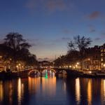 Amsterdam Gracht Sonnenuntergang