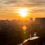 Sonnenuntergang vom Riesenrad