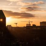 Sonnenuntergang durchs Märkische Museum