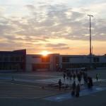 Sonnenuntergang Airport Schönefeld