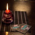 !Oi! Zosch-Visitenkarten im Kerzenschein