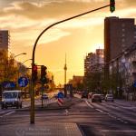 Sonnenuntergang 17.04.2016, Frankfurter Allee