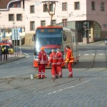 153 Tram - Škoda 15T with Workers on the Tracks