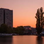 Sonnenuntergangs-Langzeitbelichtung