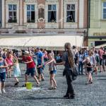 Seifenblasenkunst in Prag
